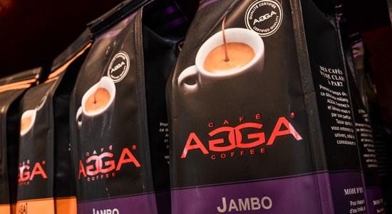 Café AGGA disponible à la Boulangère