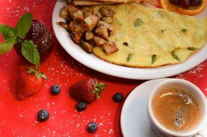 Omelette et asperges