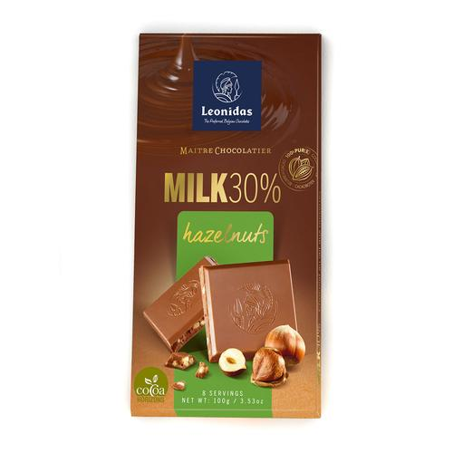 Tablette lait 30% noisette 100g x6