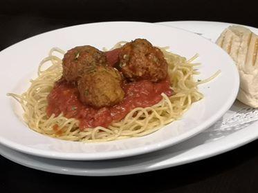 Spaghettini boulettes