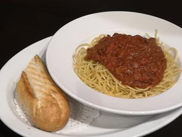Spaghettini sauce viande